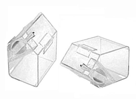 Medium Clear Favor Boxes : Sets clear plastic medium containers with scoop party